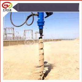 桩基工程引孔用螺旋钻机 挖掘机改装植树钻