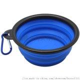 寵物食盆 飯盤喝水旅遊摺疊矽膠便攜碗狗狗用品