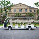新品上市厂家直供14座纯白电动观光车