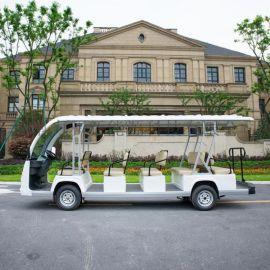 新品上市厂家直供14座纯白電動觀光車