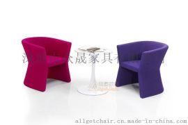 休闲沙发椅 单人位布艺沙发 接待小沙发椅生产厂家