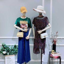 大码棉麻女装芝麻衣柜招牌品牌女装尾货女式毛衣牛仔套装女装地摊批发女装批发市场