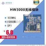 深圳硅傳HW3000無線433遙控模組可替換SI4432、A7139、CC1101