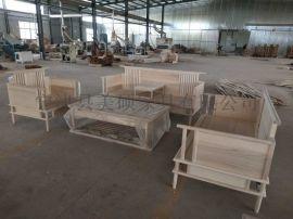 美硕新中式沙发茶几古典禅意沙发实木客厅组合家具