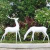 定製大型室外不鏽鋼發光雕園林景觀創意雕塑人物動物玻璃雕塑工廠