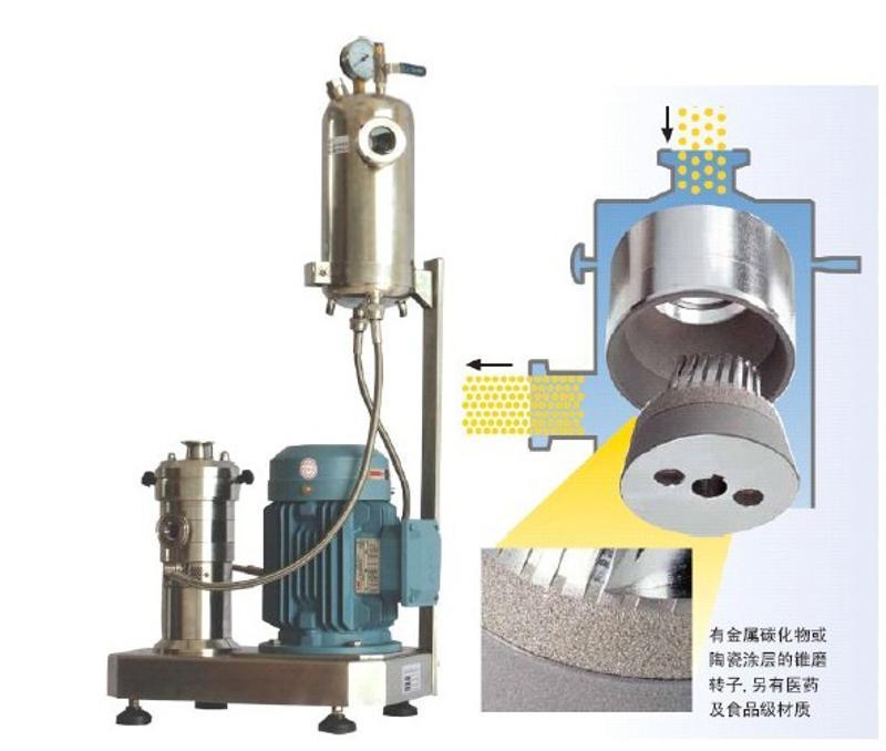 上海思峻直銷 氧化鋁陶瓷隔膜漿料分散機 告訴剪切分散機