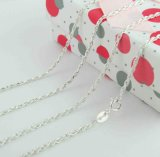 925纯银绳串链,银项链,纯银首饰,电镀链条