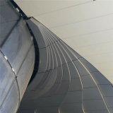 弧形外墙铝单板供应厂家 造型幕墙铝单板图案