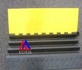 屹岚牌PVC线槽板展览布线 橡胶线槽板过线板
