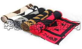 韩版毛线字母针织围巾,百搭百变男士针织围巾,个性混色保暖围巾