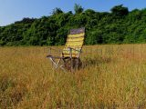 出口韓國 大號戶外摺疊椅休閒椅 沙灘椅野營便攜靠背椅扶手椅