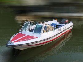 玻璃钢艇 冲锋舟 10人敞开式玻璃钢艇 厂家直销