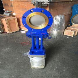PZ673H气动刀型闸阀碳钢浆液阀DN100