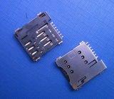 0121CAAA07A 有柱卡座 push type 6pin microSim connector