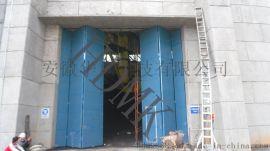 电厂钢质折叠门,电厂不锈钢保温门,折叠钢制电动门