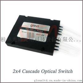 桂林光隆GLSUN2x4级联光开关 光开关模块