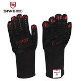 现货bbq手套耐高温手套350度微波炉硅胶烧烤手套