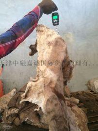 進口鹽溼牛皮,天津進口羊皮清關