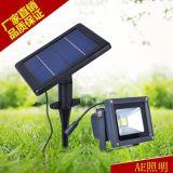 AE照太阳能灯投射灯泛光灯家用庭院灯户外防水路灯墙壁灯led投光灯 3W太阳能投光灯明