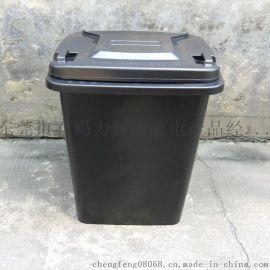力源防静电垃圾桶厂家,100升防静电带盖环卫塑料垃圾桶