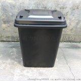 力源防靜電垃圾桶廠家,100升防靜電帶蓋環衛塑料垃圾桶