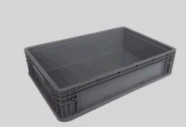 物料周转箱 配件箱可堆式塑料物流箱 600*400*148可配盖塑