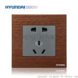 現代開關插座hyundai新款熱賣開關插座K70系列86型二三極五孔插座