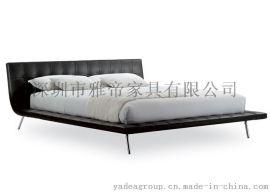 现代创意床,北欧风格床,**真皮床