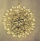 批發現代雙鏡面不鏽鋼led星光鳥巢 火花球 圓球形裝飾燈大小組合