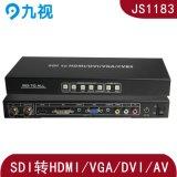 高清SDI轉HDMI\VGA\AV\DVI轉換器輸出解析度可調