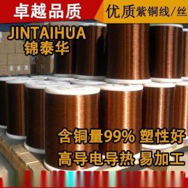 供应镀锡紫铜线 紫铜丝 铜线镀锡加工 0.05mm~3mm线直径