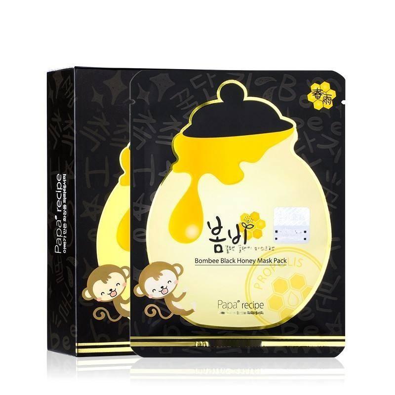 一般貿易進口春雨新防僞黑盧卡蜂蜜面膜深層補水 帶中文標籤廠家批發
