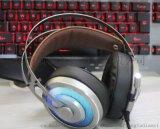 供应血豹耳机X-200黑银网吧游戏电脑耳机