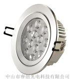 12W大功率LED射灯,无频闪LED天花灯