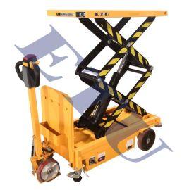 新品移动式电动升降车 平板装卸车液压平台车小型升降车充电式