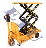 新品移動式電動升降車 平板裝卸車液壓平臺車小型升降車充電式