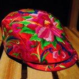 民族繡花鴨舌帽