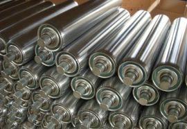 专业的滚筒输送机生产厂家碳钢喷塑 线和转弯滚筒线