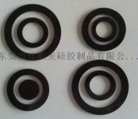 供应圆形黑色硅胶垫圈 硅胶垫圈垫片黑色橡胶垫密封圈水管垫片