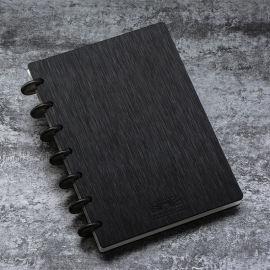 B6记事本环保PP封面书写纸手帐本蘑菇孔活页本