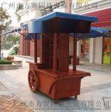 方貿園林定做文化園可移動仿古保溫售貨亭