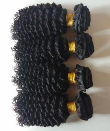 真人发顺发发帘High quality 7A Brazilian virgin hair deep wave human weft extension欧美发帘