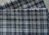 仿麻沙發佈,雙色空變色織格子布,扎毛塗層沙發面料