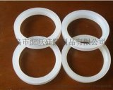 義烏加工定製 矽膠配件 耐高溫密封圈 平面帶凸 白色矽膠密封圈