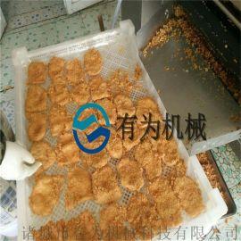 鸡排挂浆裹糠机生产线、鸡排加工自动化设备