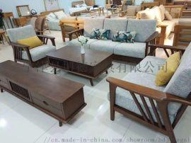 厂家直销北欧实木简约沙发茶几电视柜大小户型客厅家具