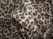 豹纹雪纺印花面料