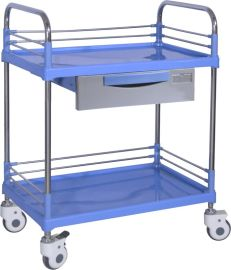 SKR004 塑钢多功能推车 双层推车 医用护理推车