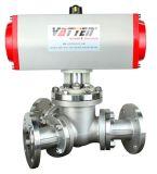 德國VATTENQ41F-16P 氣動球閥中德合資上海工廠 氣動三通不鏽鋼球閥