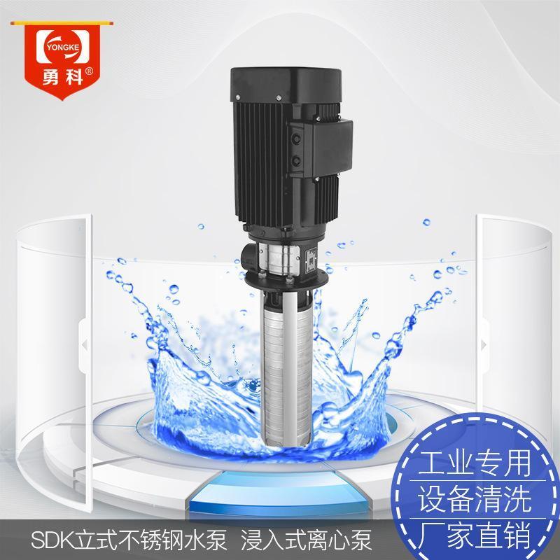 SDK4 立式管道增壓水泵 工業清洗浸入式水泵